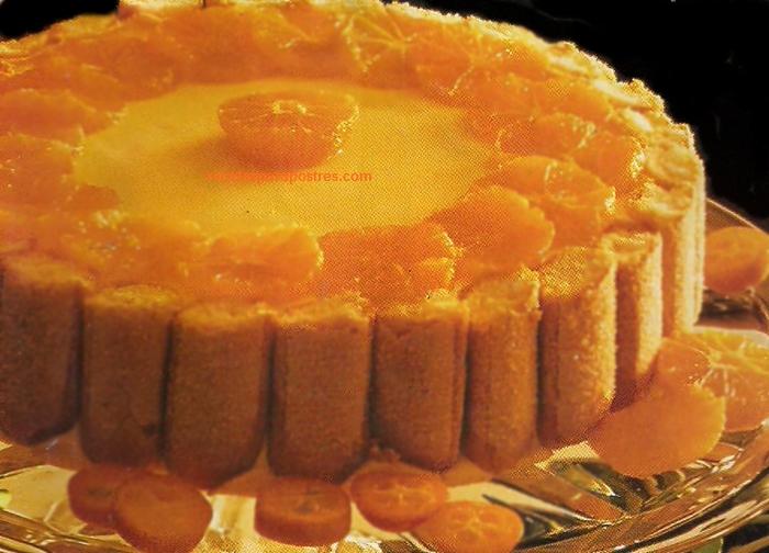 pastel de naranja frio
