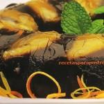 Gelatina de zapote y naranja