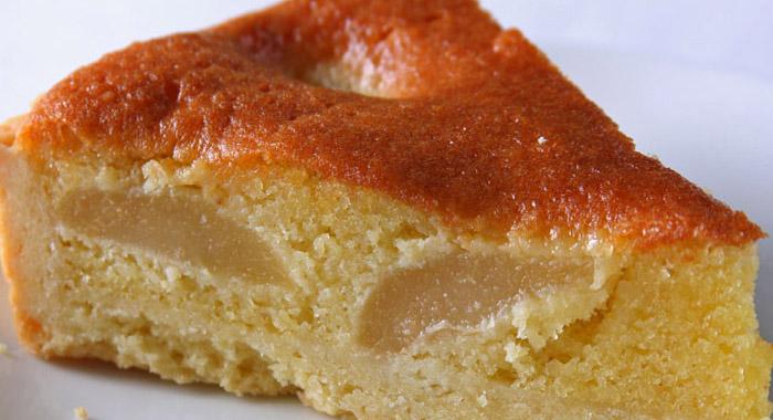 pastel con pera