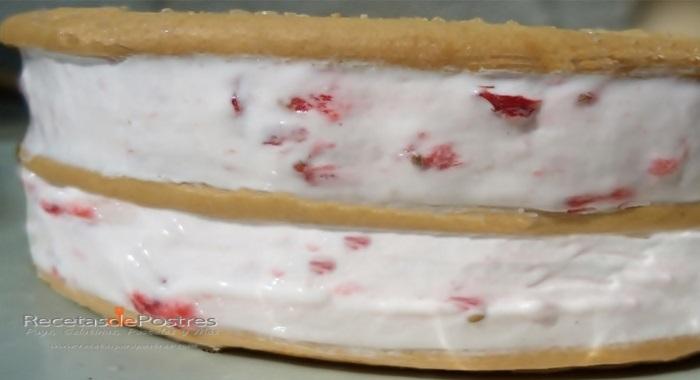 sanwich de fresas con crema