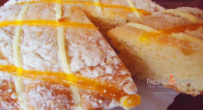 pastel economico de naranja