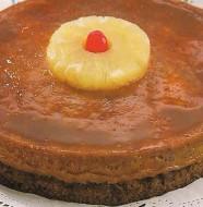 Flan napolitano con pastel de piña