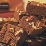 Brownies de moka con nuez