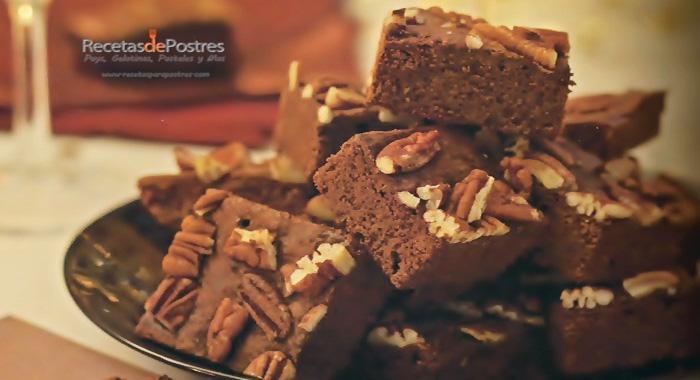 brownies de moka y nuez