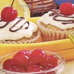 Cupcakes de plátano con chocolate
