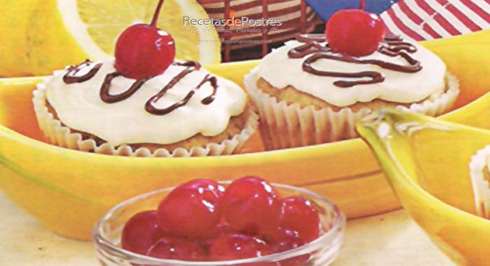 cupcakes de platano con chocolate