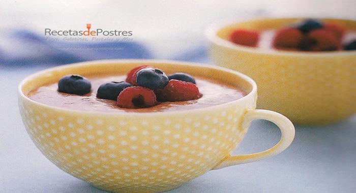mousse de chocolate con blueberry