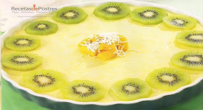 tarta de mango y coco