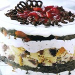 Trifle de pastel de queso y chocolate