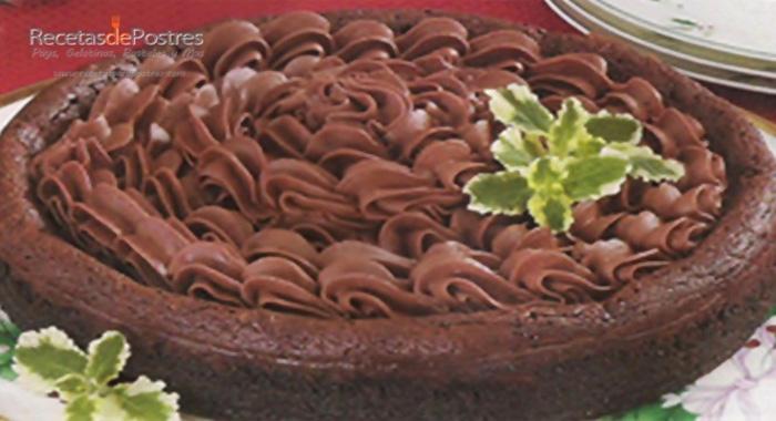 tarta de chocolate con crema