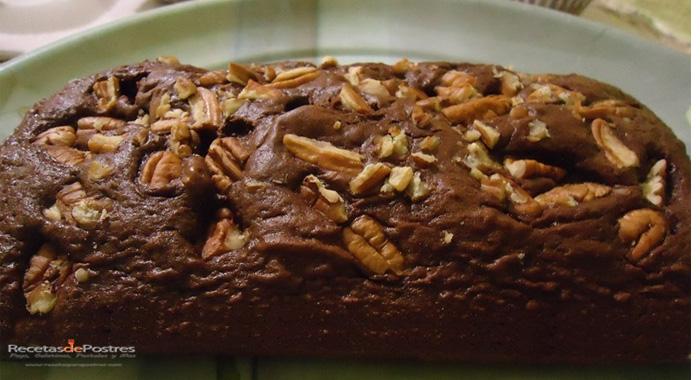 Panque de chocolate con nuez
