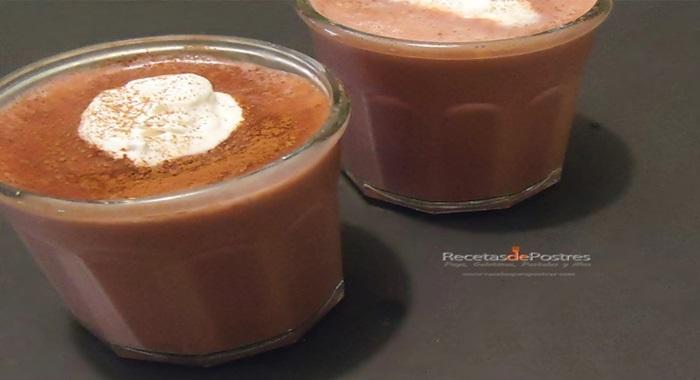 Espuma de chocolate
