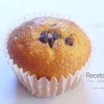 Muffins de vainilla con chispas de chocolate