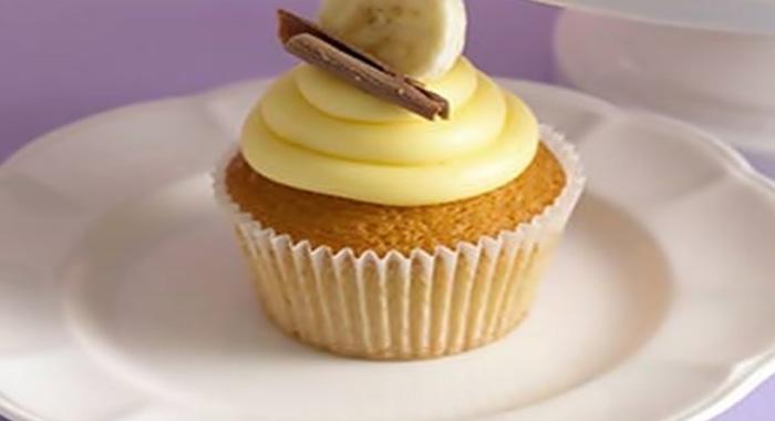 Cupcakes de plátano.