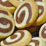 Rollo de queso y chocolate