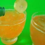 Gelatina de naranja con refresco de limón.