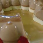Gelatina de chocolate bicolor