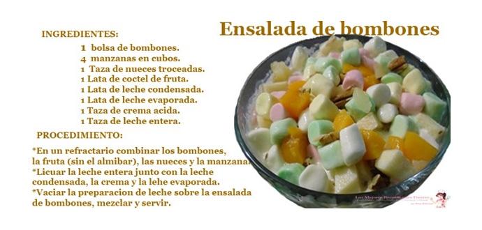 Recetas de postres con frutas y bombones